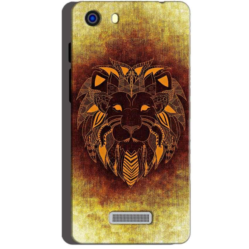 Micromax Unite 3 Q372 Mobile Covers Cases Lion face art - Lowest Price - Paybydaddy.com