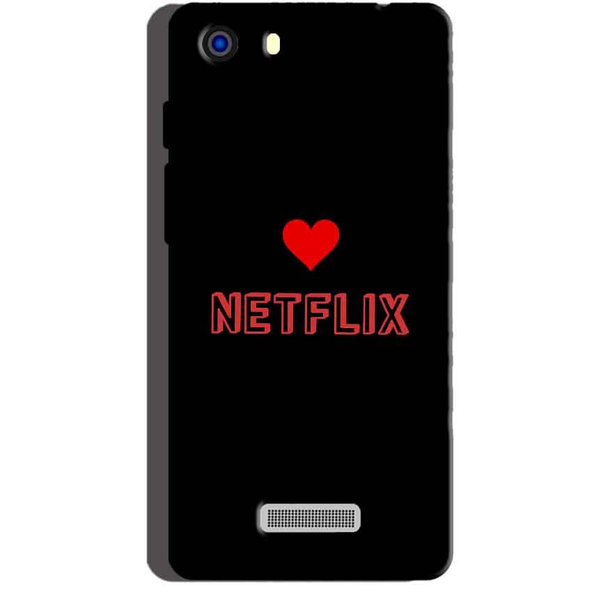 Micromax Unite 3 Q372 Mobile Covers Cases NETFLIX WITH HEART - Lowest Price - Paybydaddy.com
