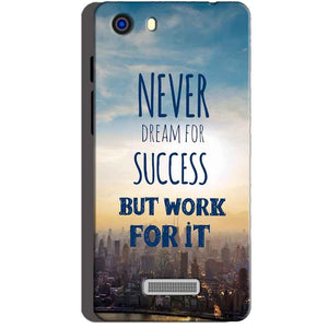 Micromax Unite 3 Q372 Mobile Covers Cases Never Dreams For Success But Work For It Quote - Lowest Price - Paybydaddy.com