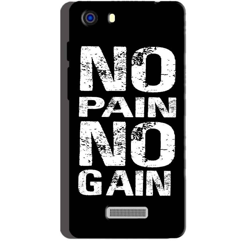 Micromax Unite 3 Q372 Mobile Covers Cases No Pain No Gain Black And White - Lowest Price - Paybydaddy.com