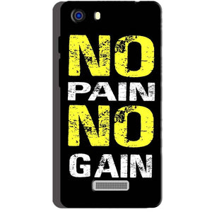 Micromax Unite 3 Q372 Mobile Covers Cases No Pain No Gain Yellow Black - Lowest Price - Paybydaddy.com