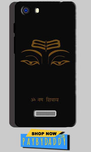 Micromax Unite 3 Q372 Mobile Covers Cases Om Namaha Gold Black - Lowest Price - Paybydaddy.com