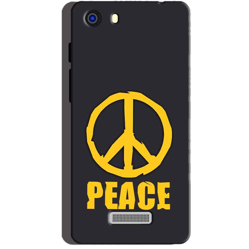 Micromax Unite 3 Q372 Mobile Covers Cases Peace Blue Yellow - Lowest Price - Paybydaddy.com