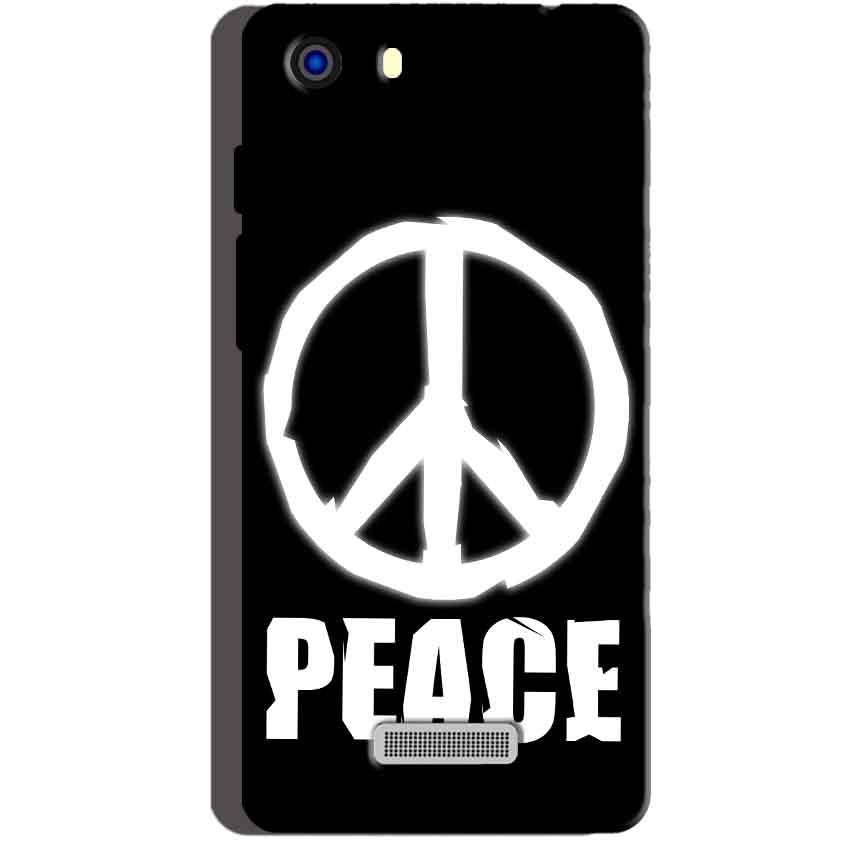 Micromax Unite 3 Q372 Mobile Covers Cases Peace Sign In White - Lowest Price - Paybydaddy.com