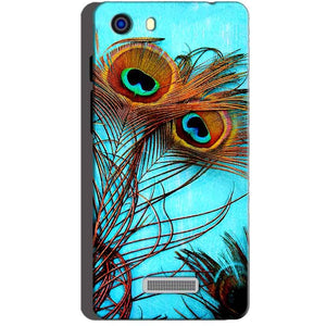 Micromax Unite 3 Q372 Mobile Covers Cases Peacock blue wings - Lowest Price - Paybydaddy.com