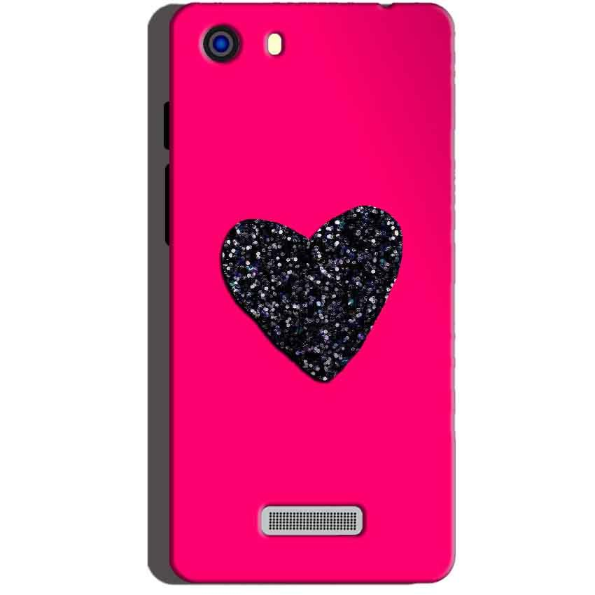 Micromax Unite 3 Q372 Mobile Covers Cases Pink Glitter Heart - Lowest Price - Paybydaddy.com