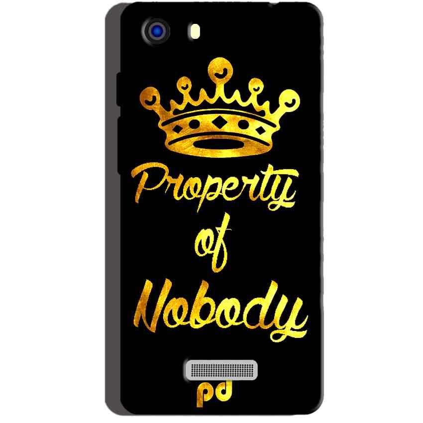 Micromax Unite 3 Q372 Mobile Covers Cases Property of nobody with Crown - Lowest Price - Paybydaddy.com