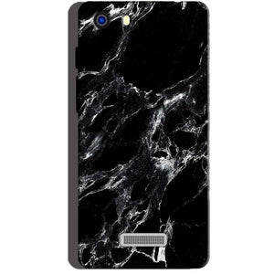 Micromax Unite 3 Q372 Mobile Covers Cases Pure Black Marble Texture - Lowest Price - Paybydaddy.com