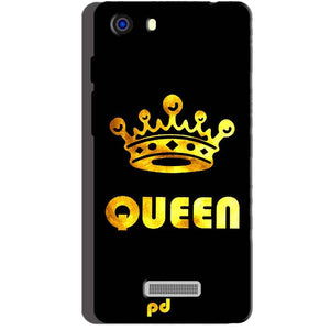 Micromax Unite 3 Q372 Mobile Covers Cases Queen With Crown in gold - Lowest Price - Paybydaddy.com