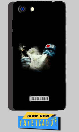 Micromax Unite 3 Q372 Mobile Covers Cases Shiva Aghori Smoking - Lowest Price - Paybydaddy.com