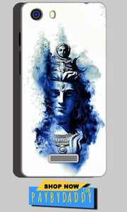 Micromax Unite 3 Q372 Mobile Covers Cases Shiva Blue White - Lowest Price - Paybydaddy.com