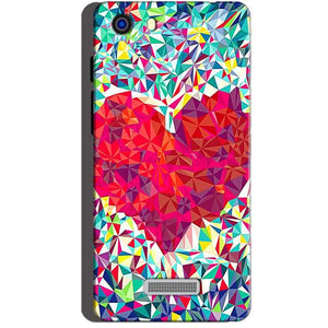 Micromax Unite 3 Q372 Mobile Covers Cases heart Prisma design - Lowest Price - Paybydaddy.com
