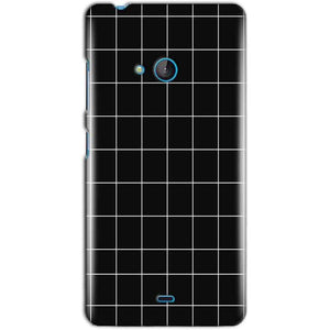 Microsoft Lumia 540 Mobile Covers Cases Black with White Checks - Lowest Price - Paybydaddy.com
