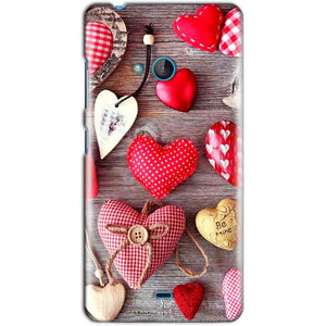 Microsoft Lumia 540 Mobile Covers Cases Hearts- Lowest Price - Paybydaddy.com