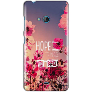 Microsoft Lumia 540 Mobile Covers Cases Hope in the Things Unseen- Lowest Price - Paybydaddy.com