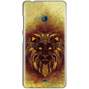 Microsoft Lumia 540 Mobile Covers Cases Lion face art - Lowest Price - Paybydaddy.com