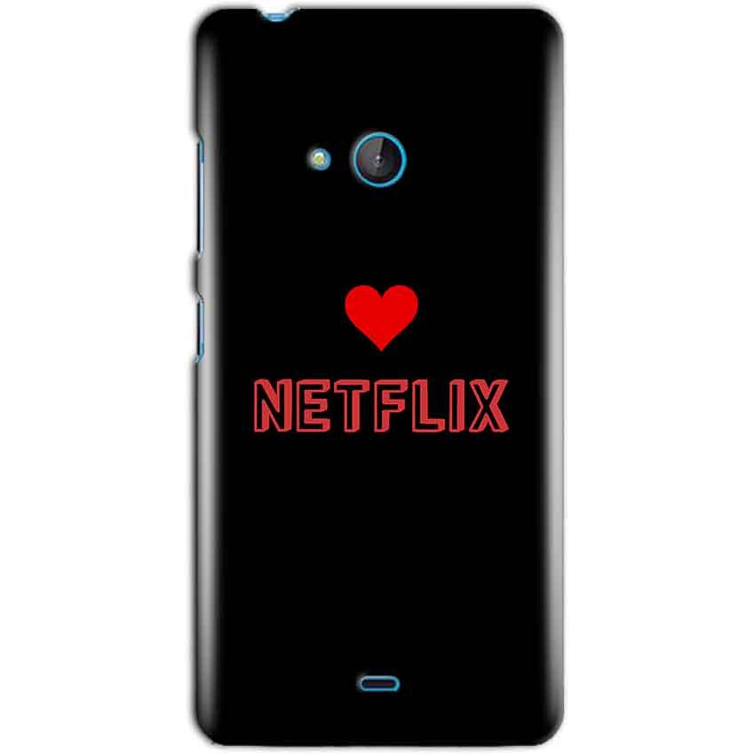 Microsoft Lumia 540 Mobile Covers Cases NETFLIX WITH HEART - Lowest Price - Paybydaddy.com
