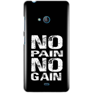 Microsoft Lumia 540 Mobile Covers Cases No Pain No Gain Black And White - Lowest Price - Paybydaddy.com