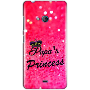 Microsoft Lumia 540 Mobile Covers Cases PAPA PRINCESS - Lowest Price - Paybydaddy.com