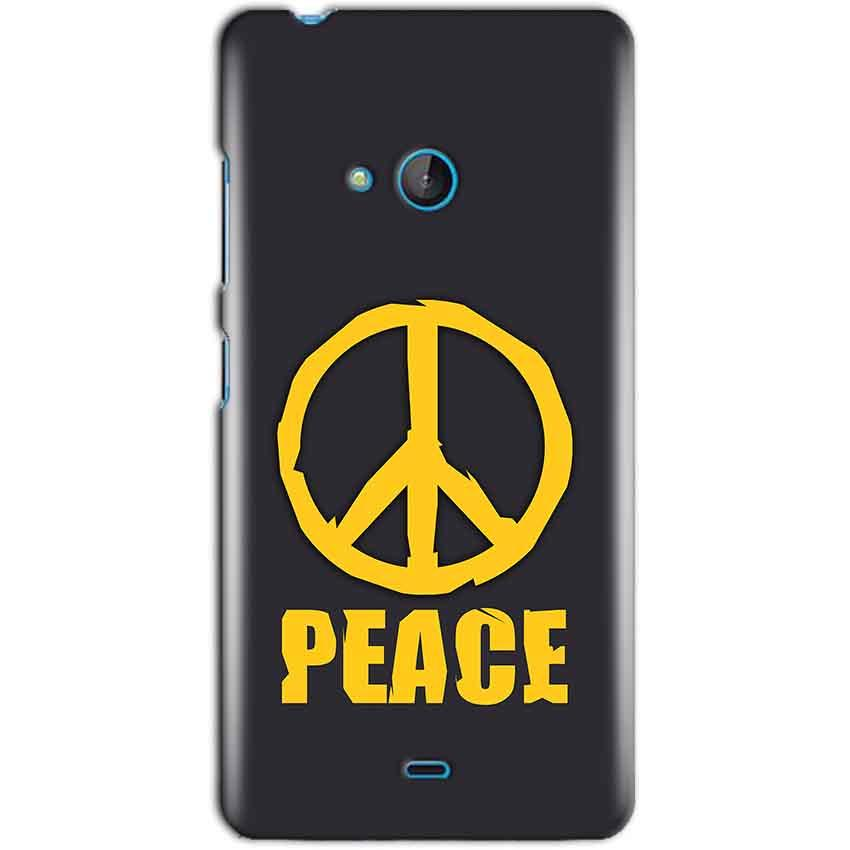 Microsoft Lumia 540 Mobile Covers Cases Peace Blue Yellow - Lowest Price - Paybydaddy.com