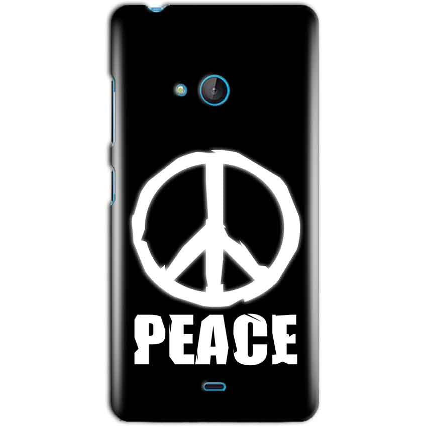 Microsoft Lumia 540 Mobile Covers Cases Peace Sign In White - Lowest Price - Paybydaddy.com