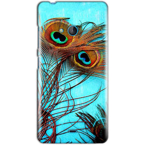 Microsoft Lumia 540 Mobile Covers Cases Peacock blue wings - Lowest Price - Paybydaddy.com
