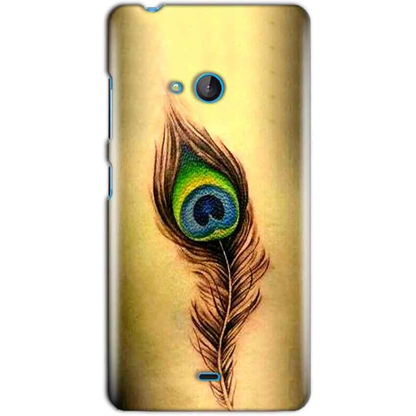 Microsoft Lumia 540 Mobile Covers Cases Peacock coloured art - Lowest Price - Paybydaddy.com
