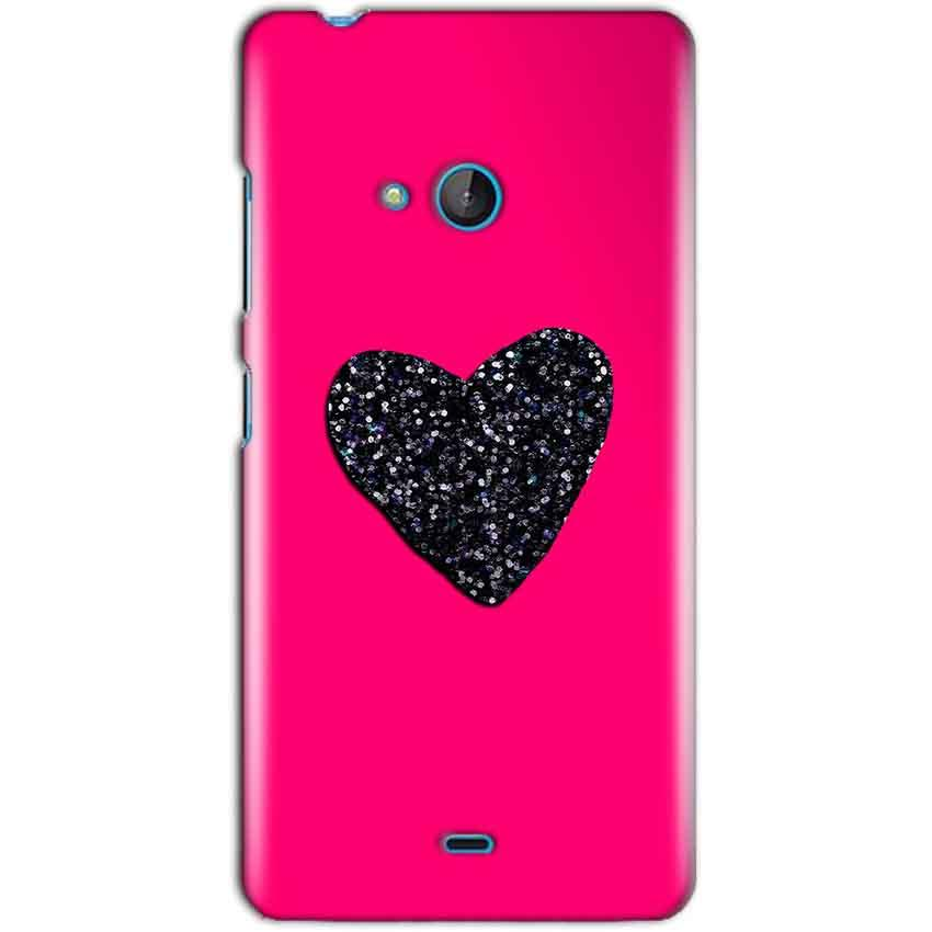 Microsoft Lumia 540 Mobile Covers Cases Pink Glitter Heart - Lowest Price - Paybydaddy.com