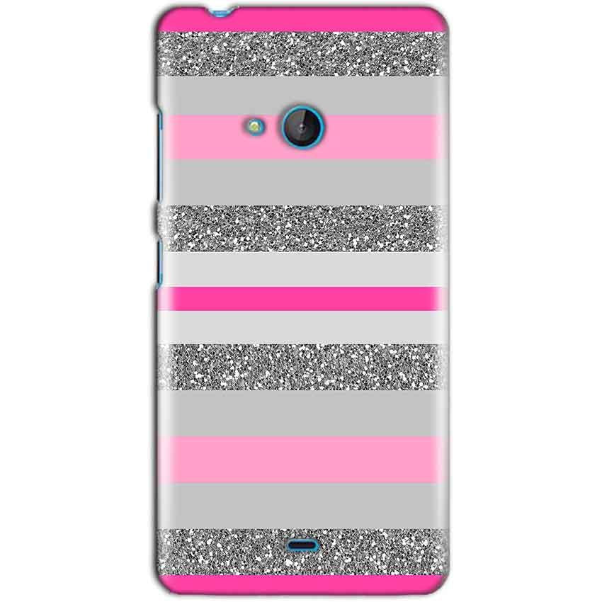 Microsoft Lumia 540 Mobile Covers Cases Pink colour pattern - Lowest Price - Paybydaddy.com