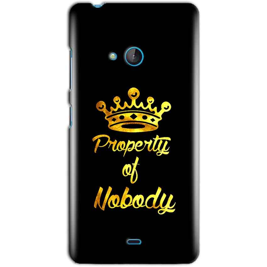 Microsoft Lumia 540 Mobile Covers Cases Property of nobody with Crown - Lowest Price - Paybydaddy.com