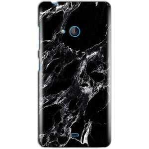 Microsoft Lumia 540 Mobile Covers Cases Pure Black Marble Texture - Lowest Price - Paybydaddy.com
