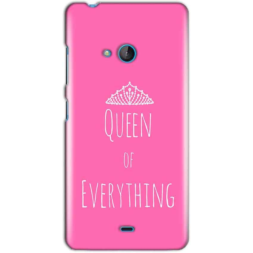 Microsoft Lumia 540 Mobile Covers Cases Queen Of Everything Pink White - Lowest Price - Paybydaddy.com