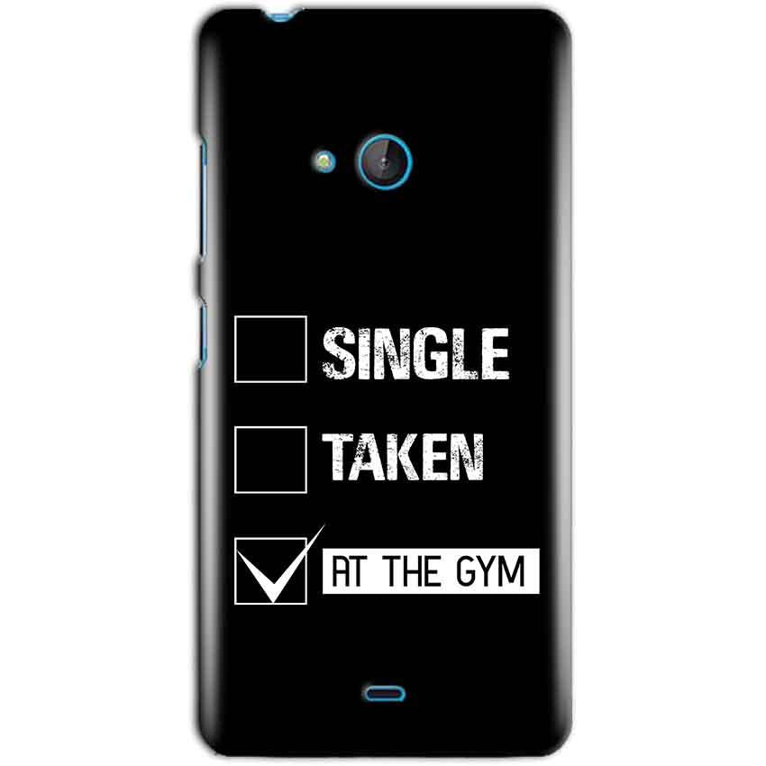 Microsoft Lumia 540 Mobile Covers Cases Single Taken At The Gym - Lowest Price - Paybydaddy.com