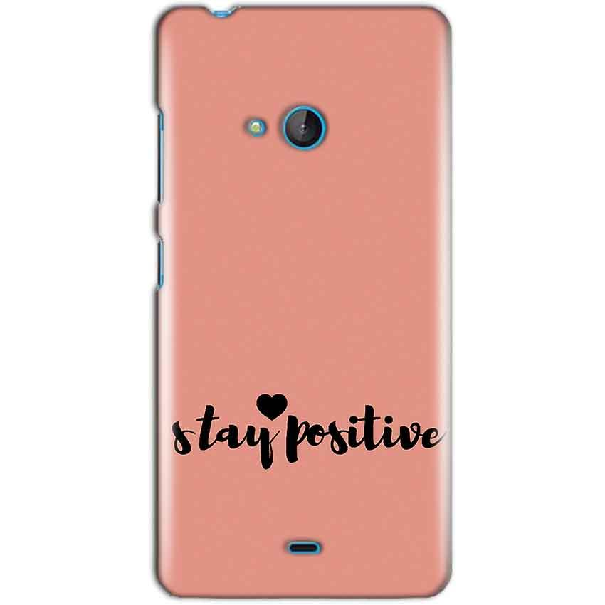 Microsoft Lumia 540 Mobile Covers Cases Stay Positive - Lowest Price - Paybydaddy.com