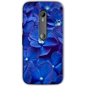 Moto G Turbo Edition Mobile Covers Cases Blue flower - Lowest Price - Paybydaddy.com