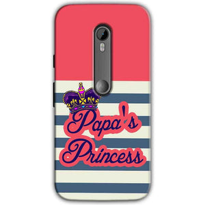 Moto G Turbo Edition Mobile Covers Cases Papas Princess - Lowest Price - Paybydaddy.com