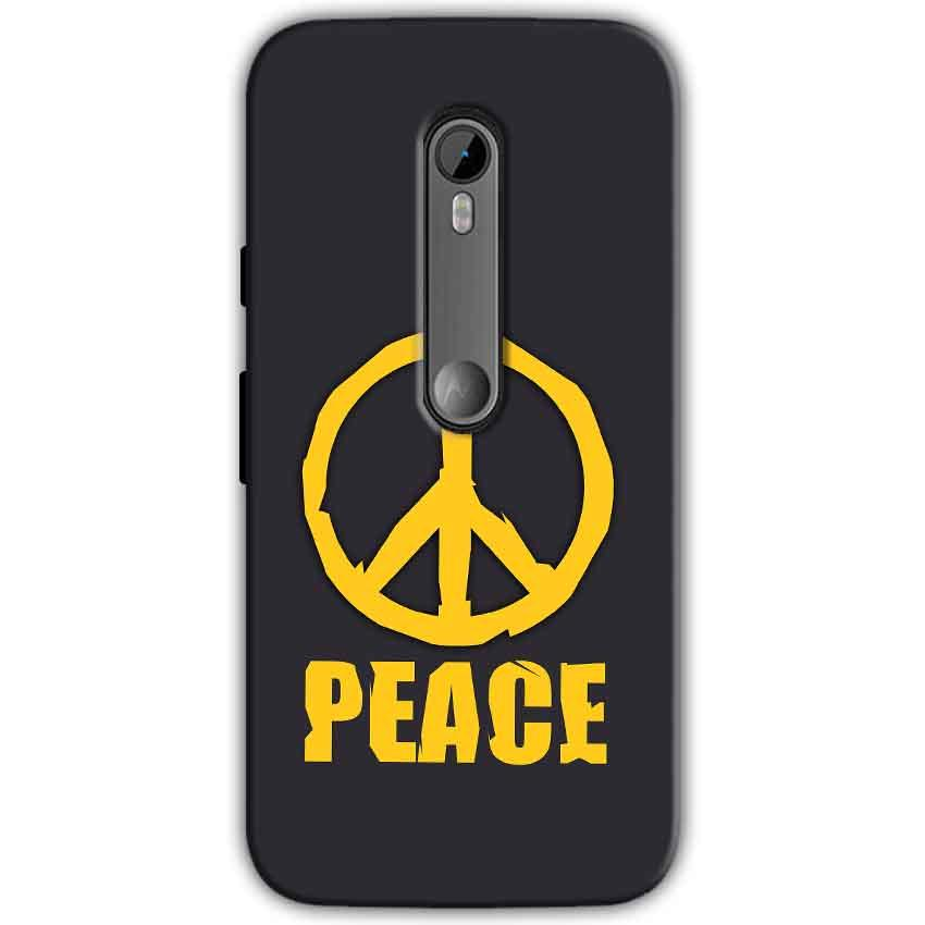 Moto G Turbo Edition Mobile Covers Cases Peace Blue Yellow - Lowest Price - Paybydaddy.com