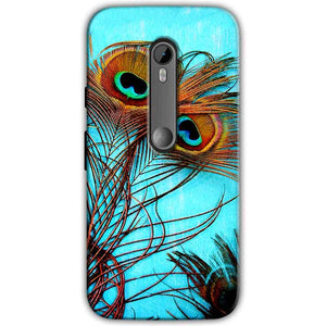 Moto G Turbo Edition Mobile Covers Cases Peacock blue wings - Lowest Price - Paybydaddy.com