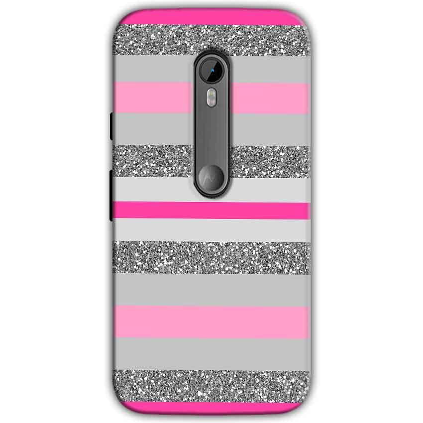 Moto G Turbo Edition Mobile Covers Cases Pink colour pattern - Lowest Price - Paybydaddy.com
