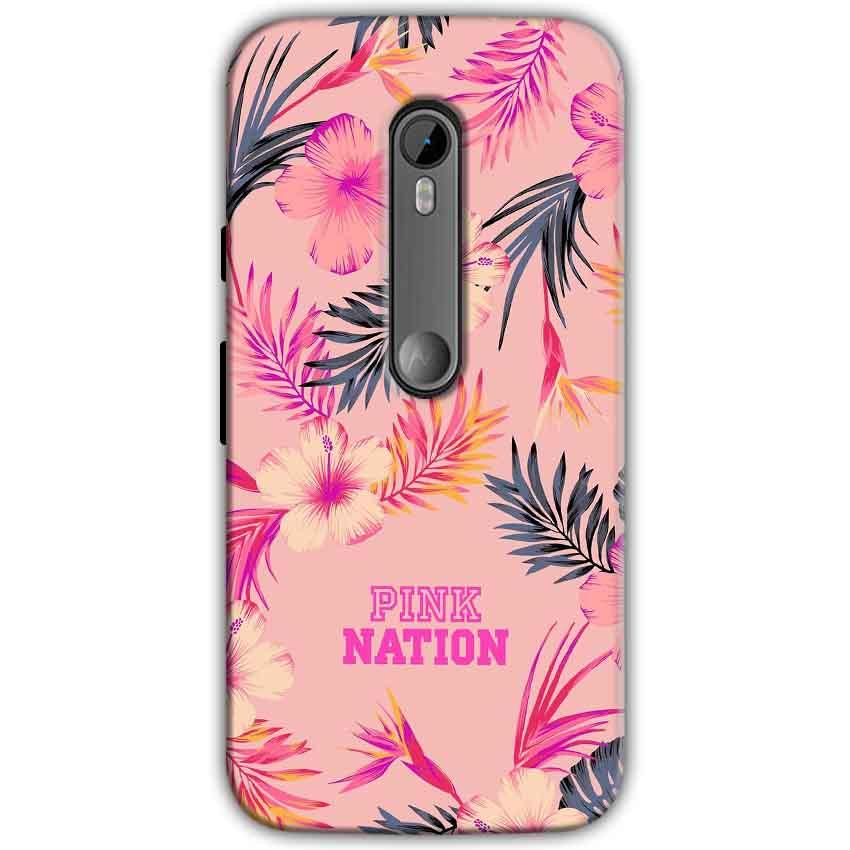 Moto G Turbo Edition Mobile Covers Cases Pink nation - Lowest Price - Paybydaddy.com
