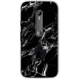 Moto G Turbo Edition Mobile Covers Cases Pure Black Marble Texture - Lowest Price - Paybydaddy.com