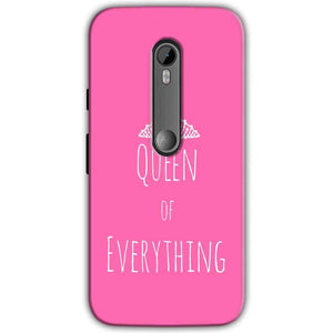 Moto G Turbo Edition Mobile Covers Cases Queen Of Everything Pink White - Lowest Price - Paybydaddy.com