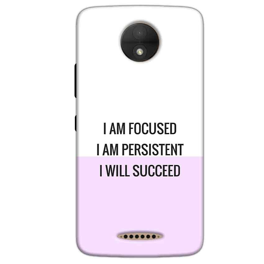 Motorola Moto C Mobile Covers Cases I am Focused - Lowest Price - Paybydaddy.com