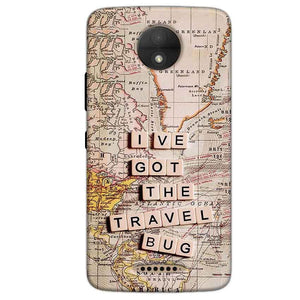 Motorola Moto C Mobile Covers Cases Live Travel Bug - Lowest Price - Paybydaddy.com