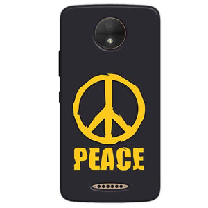 Motorola Moto C Mobile Covers Cases Peace Blue Yellow - Lowest Price - Paybydaddy.com