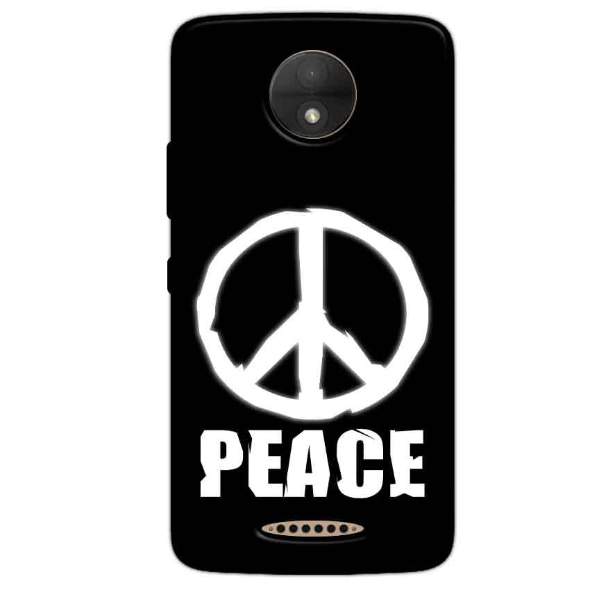 Motorola Moto C Mobile Covers Cases Peace Sign In White - Lowest Price - Paybydaddy.com