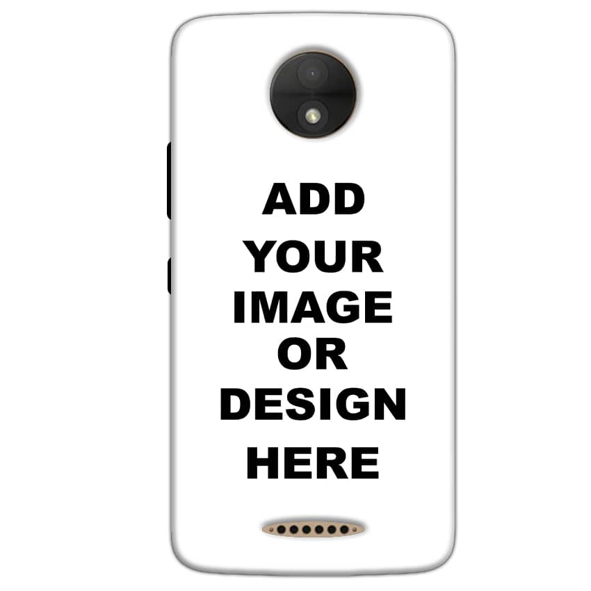Customized Motorola Moto C Plus Mobile Phone Covers & Back Covers with your Text & Photo