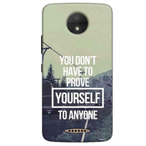 Motorola Moto C Plus Mobile Covers Cases Donot Prove yourself - Lowest Price - Paybydaddy.com