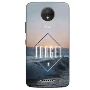 Motorola Moto C Plus Mobile Covers Cases Forget Quote Something Different - Lowest Price - Paybydaddy.com