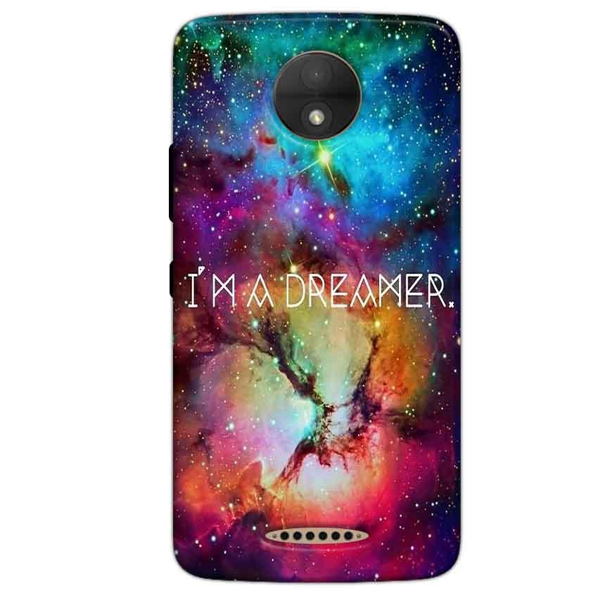Motorola Moto C Plus Mobile Covers Cases I am Dreamer - Lowest Price - Paybydaddy.com